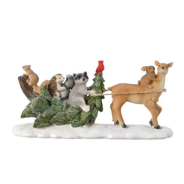 Decoration - Animals - Tree Sleigh with Deer