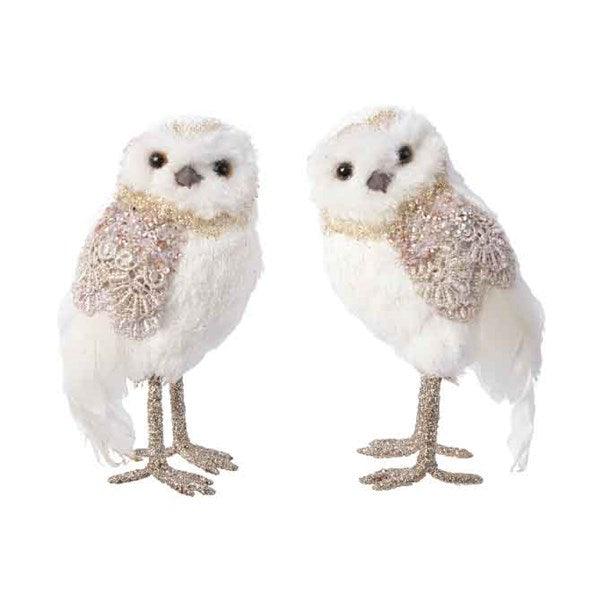Decoration - Owl - Cotton with Lace
