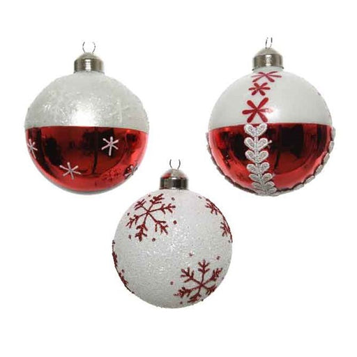 Ornament - Ball - Halfway Snowflakes