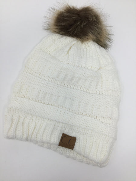 C.C. Single Pom Pom Knit Toque