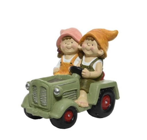 Planter - Children Riding Tractor