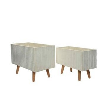 Planter - Classic White with Legs