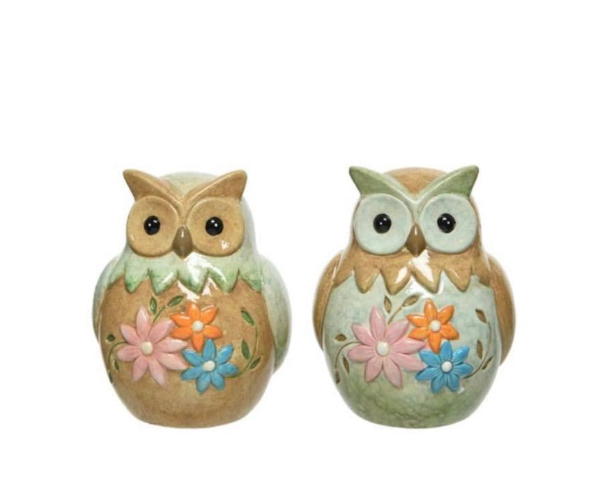 Decoration - Owl with Flowers