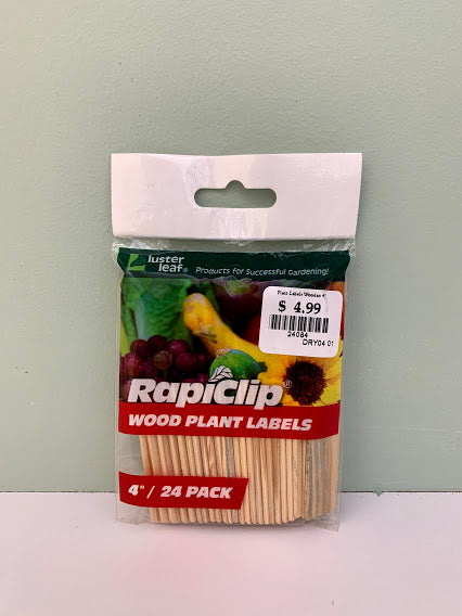"Luster Leaf - Rapiclip - 4"" Wood Plant Labels"