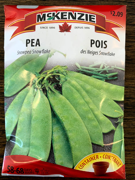 Pea Seeds  -Seed Packets