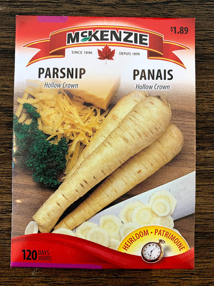 Parsnip Seeds - Seed Packets