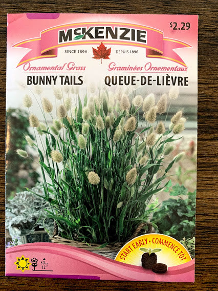 Bunny Tails Grass - Seed Packet