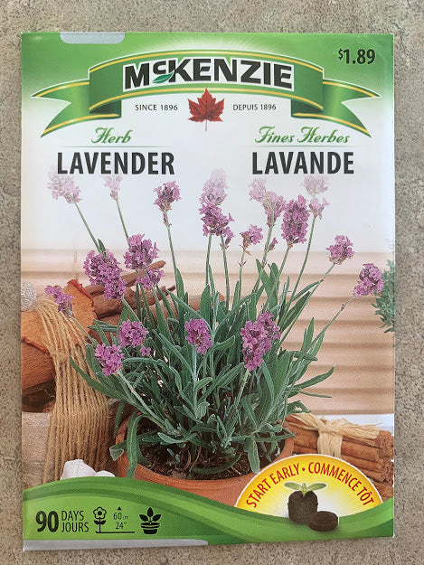 Herb - Seed Packet - Lavender