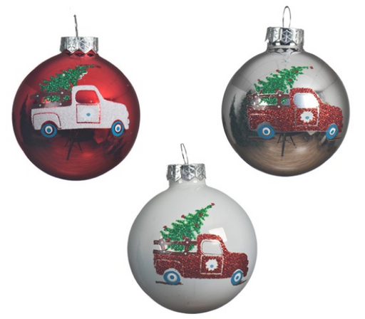 Ornament - w/Truck and Tree