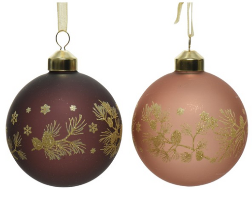 Ornament - Brown w/Gold Detailing