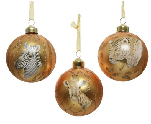 Ornament - Gold w/Animal