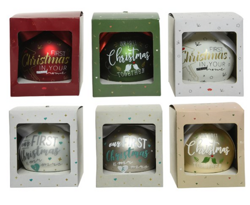 "Ornaments - ""firsts"" in Gift Box"