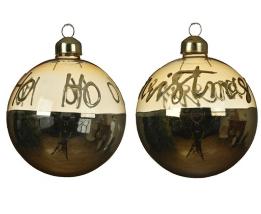 Ornament - Gold w/Writing