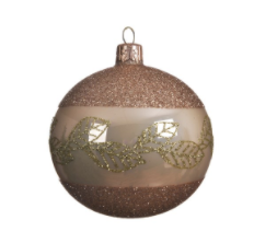 Ornament -  Golden w/Leaves