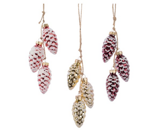 Ornament - Frosted Pinecone Bundle