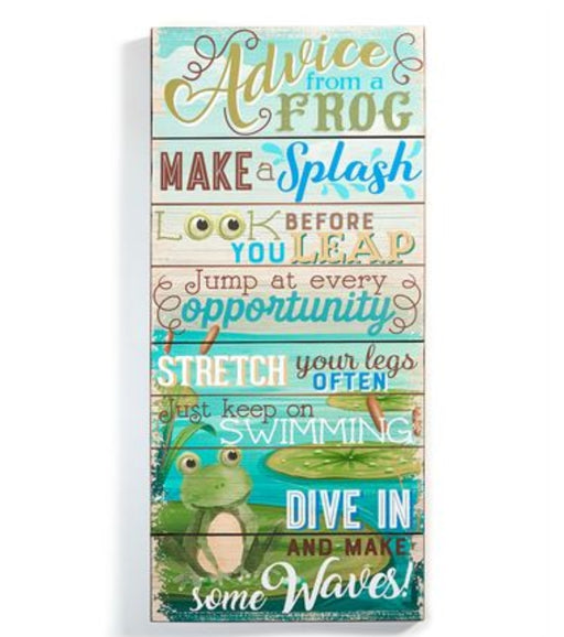 Sign Frog Advice