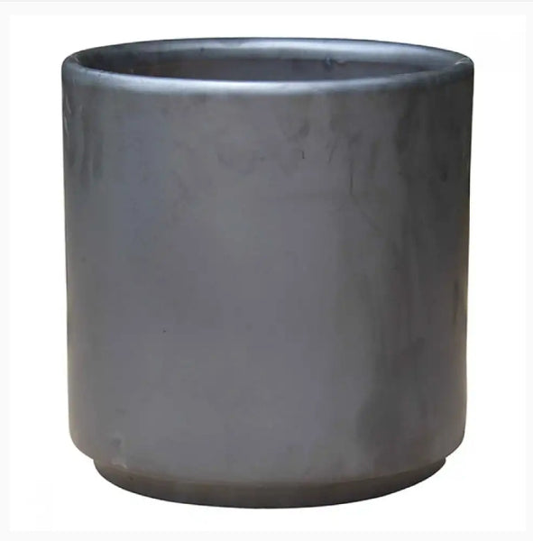 Pot Mid Century Cylinder with Stand Matte Black