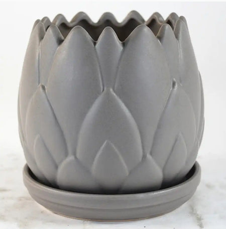 Pot - Artichoke Crackle Grey