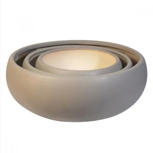 Bowl Succulent Matte Light Grey
