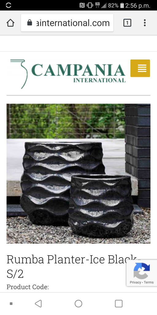 Rumba Ice Black Planter
