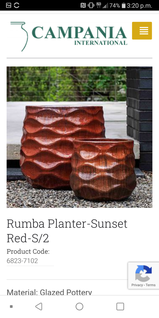 Rumba Planter - Sunset Red