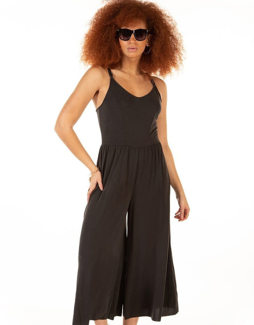 Wide Leg Jumpsuit - Dex Plus - Dark Grey