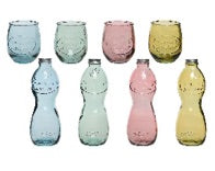 Recycled Glass Bottles and Glasses assorted colours