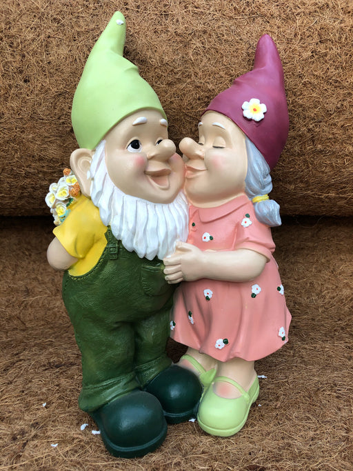 Gnome Couple with Flowers