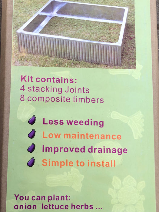 Raised Garden Bed Steel 90cm x 90cm x 20cm