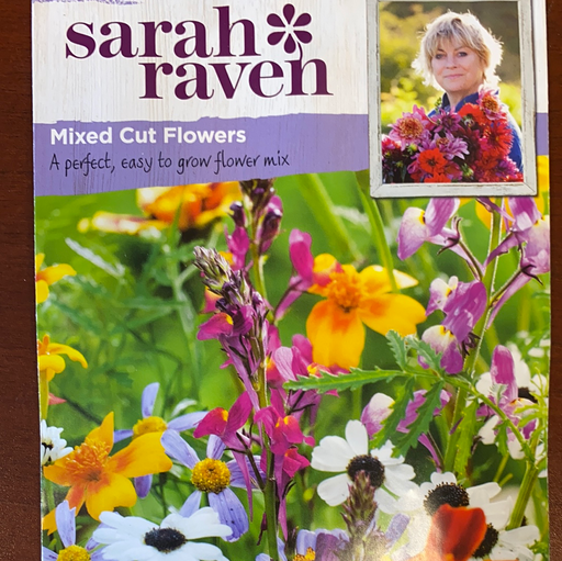 Mixed Cut Flowers -Seed Packet- Sarah Raven