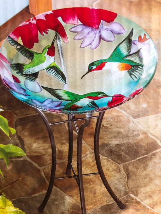 "Bird Bath 16"" Hummingbird with stand"
