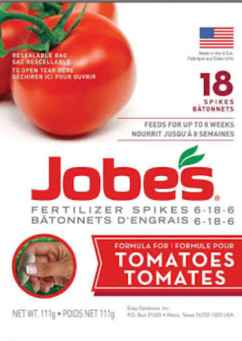Jobes Tomato Fertilizer Spikes 6-18-6