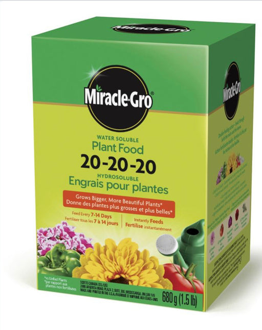 Miracle Gro fertilizer 20-20-20