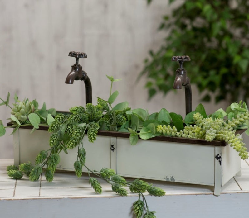 Metal planter with Faucet