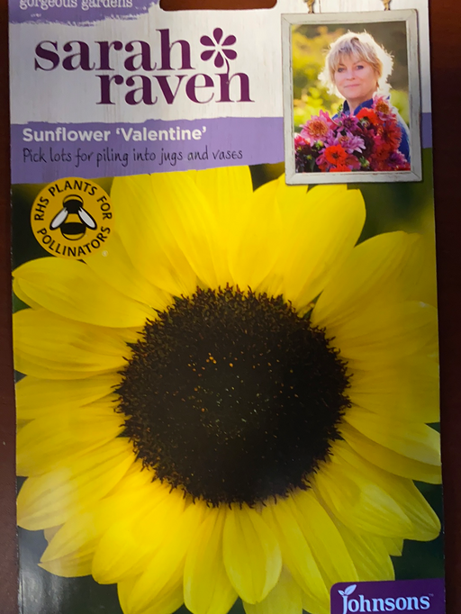 Sunflower 'valentine' -Seed Packet- Sarah Raven