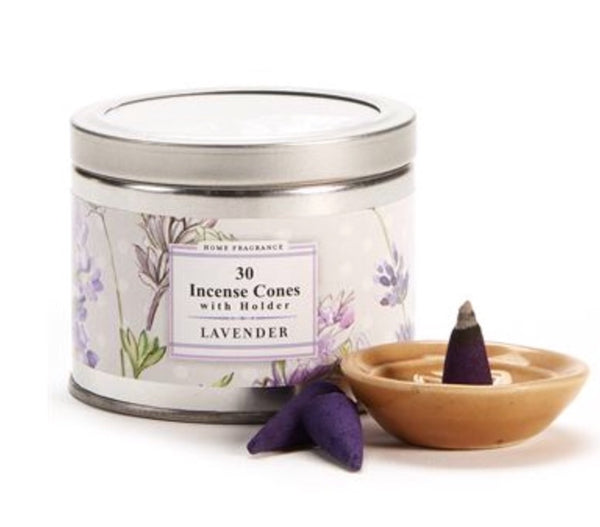 Lavender Incense Cones in Travel Tin
