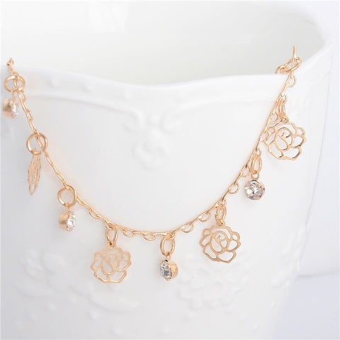 Image of Charm Flower Anklet