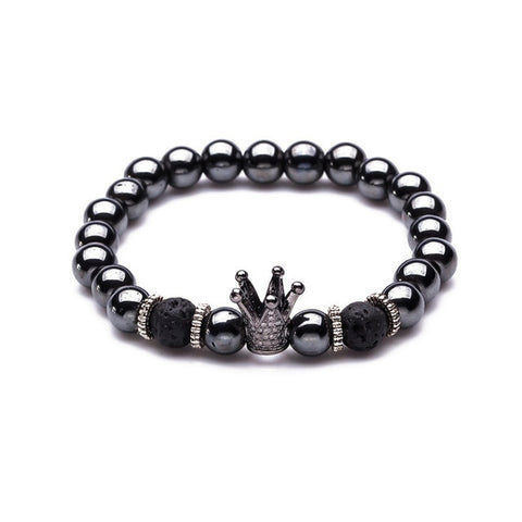 Crown Dumbbells Strand Bracelet