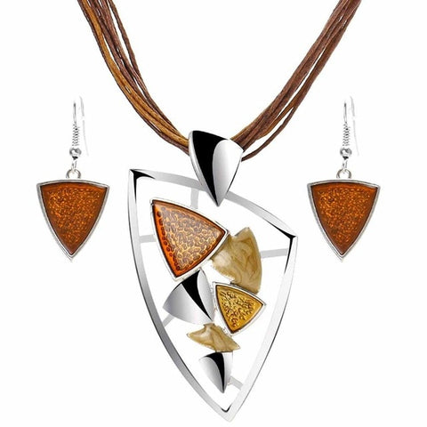 Unique Geometry Circle Jewelry set