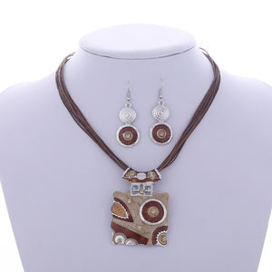 2017 African Leather Fashion - Jewelry set