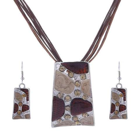 Image of 2017 African Leather Fashion - Jewelry set