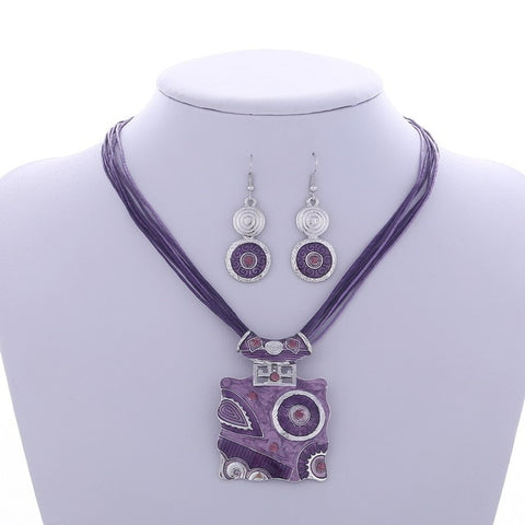 Boho Enamel Jewelry Sets