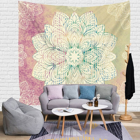 Image of Mandala Wall Hanging Tapestry