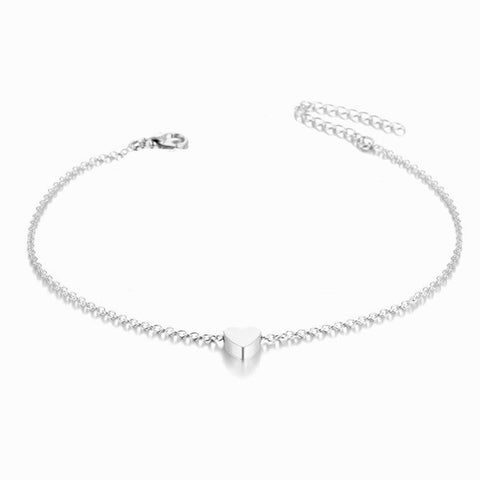 Image of Simple Heart Anklet