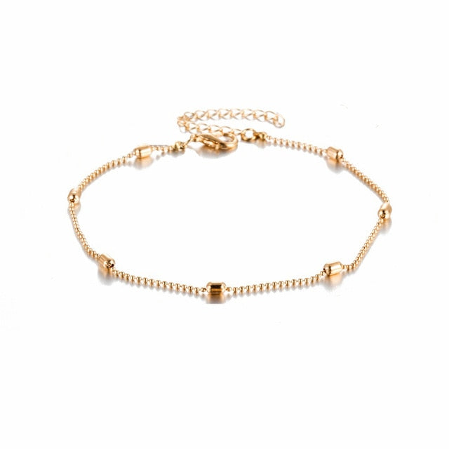 Simple Heart Anklet