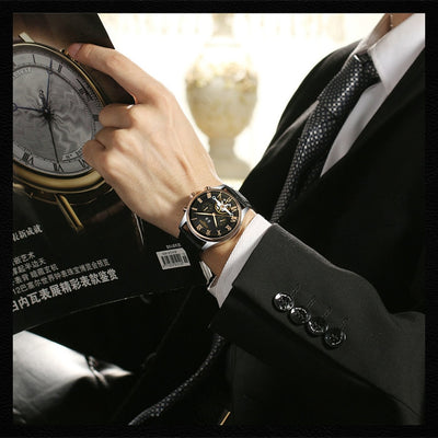 Mechanical Leather Wrist watch | Wrist  | watch | Leather | watch | Wristwatches | watches | watch | black | Below $200