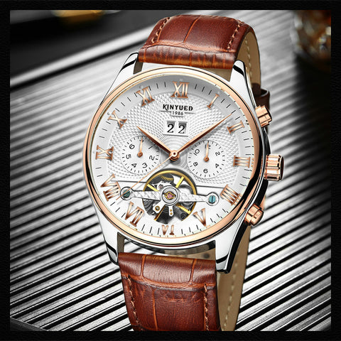 Mechanical Leather Wrist watch