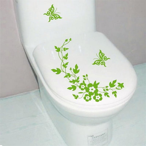 Butterfly Flower Vine Bathroom