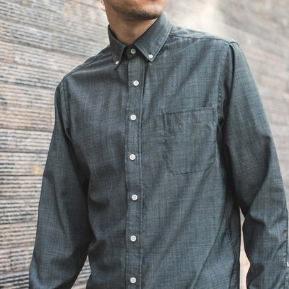 The Jack in Stone Green Chambray