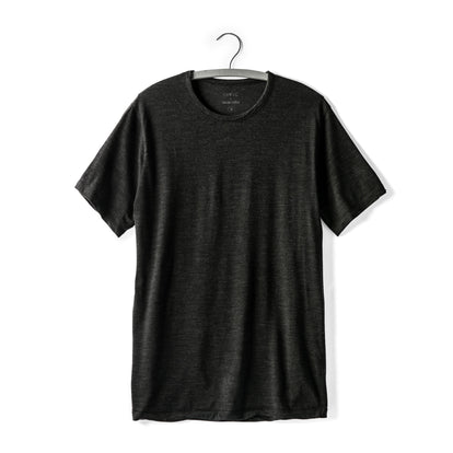 The Antoni Tee in Heather Black